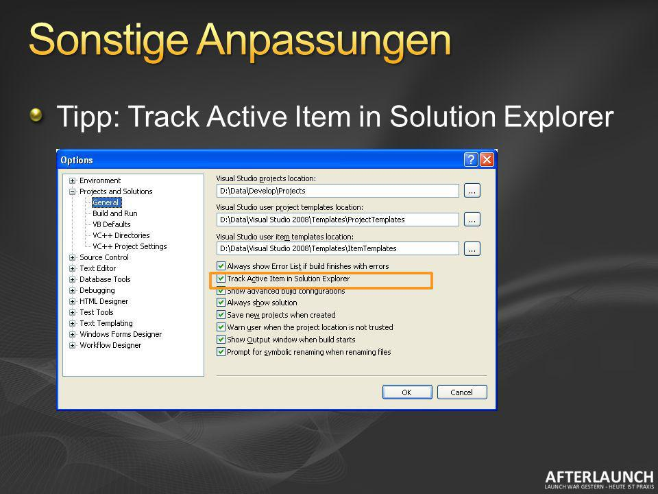 Tipp: Track Active Item in Solution Explorer