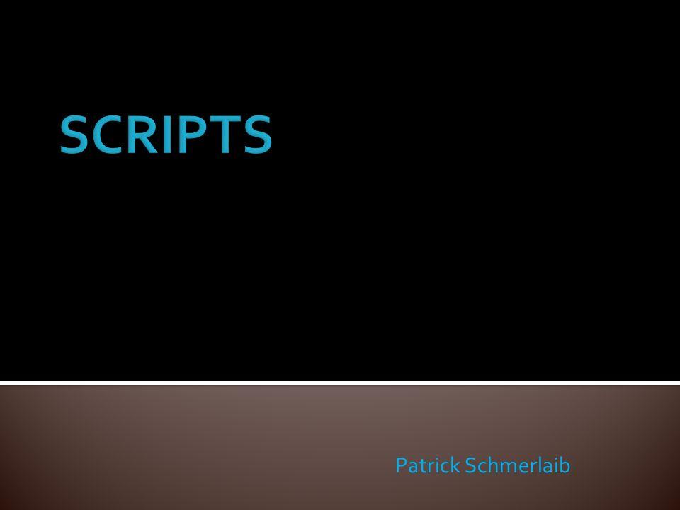 Scriptsprachen: sind Programmiersprachen Verzichten auf Sprachelemente Vorteile: schnelle Erstellung kleiner Programme Flexible Sprache Nachteile: Keine Überprüfungsfähigkeit Kann leicht manipuliert werden