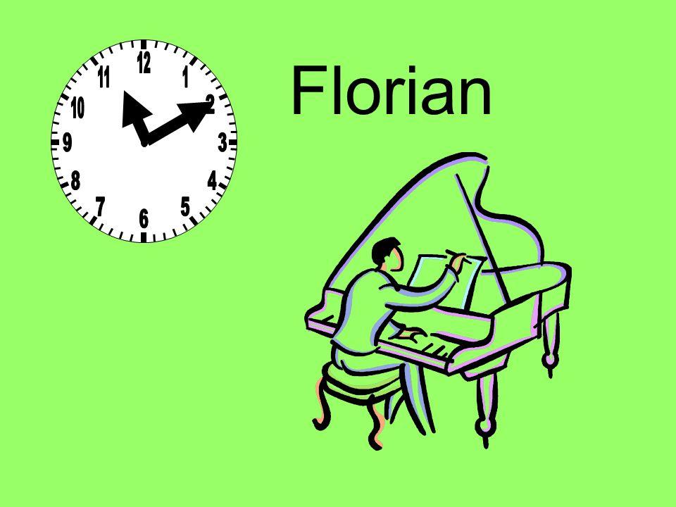 Um 11 Uhr 10 spielt Florian Klavier.