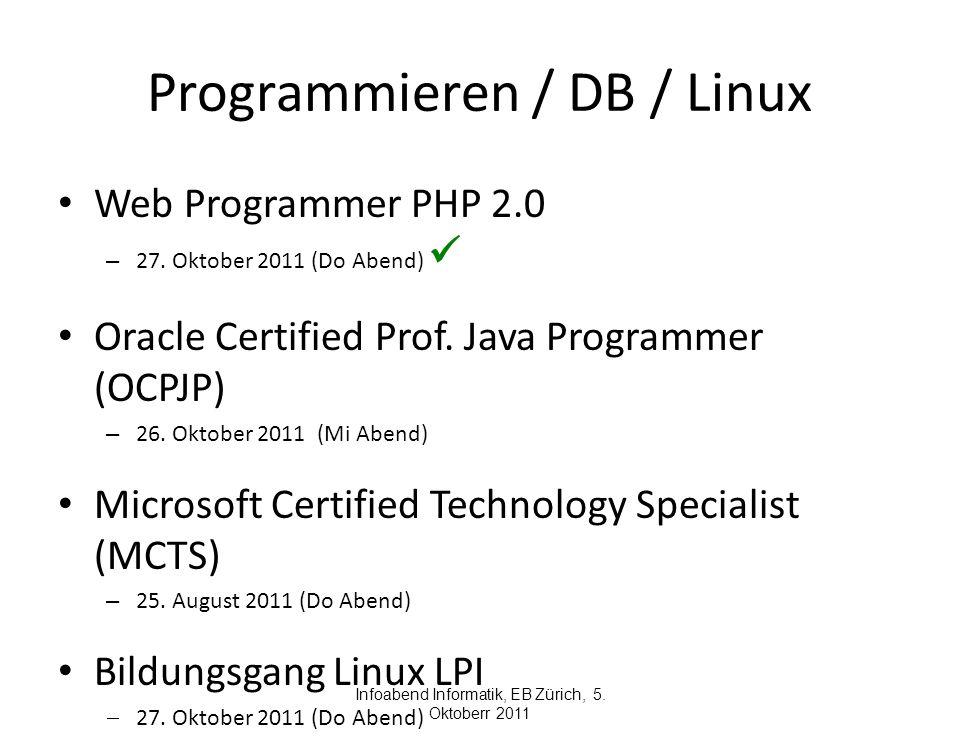 Programmieren / DB / Linux Web Programmer PHP 2.0 – 27.