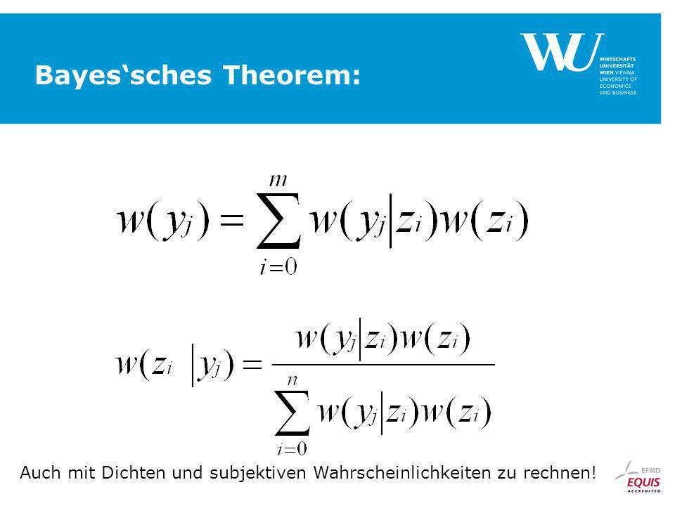 Bayessches Theorem: Auch mit Dichten und subjektiven Wahrscheinlichkeiten zu rechnen!