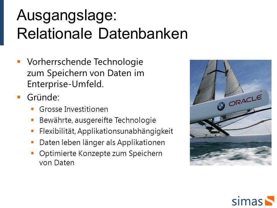 Ausgangslage: Relationale Datenbanken Vorherrschende Technologie zum Speichern von Daten im Enterprise-Umfeld.
