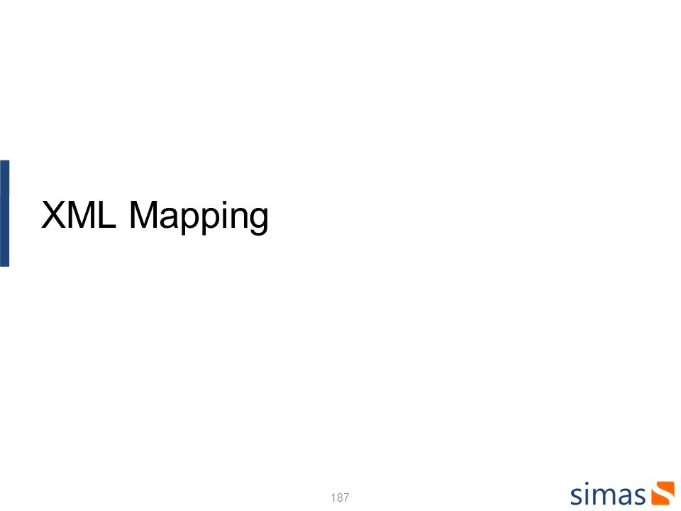 187 XML Mapping