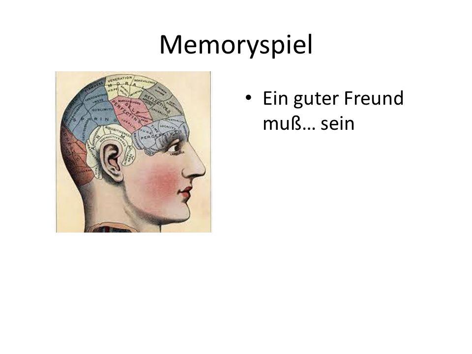 Memoryspiel Ein guter Freund muß… sein