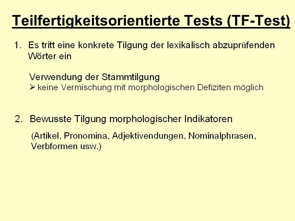 Teilfertigkeitsorientierte Tests (TF-Test)