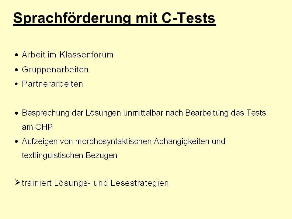 Sprachförderung mit C-Tests