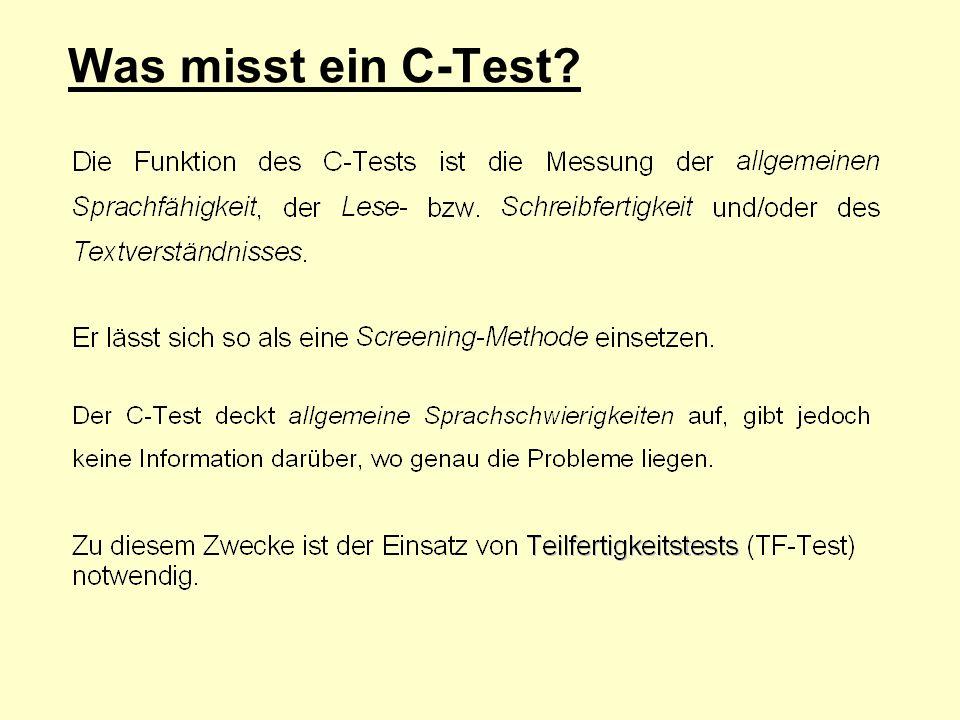 Was misst ein C-Test?