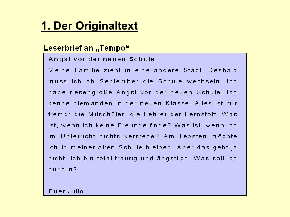 1. Der Originaltext