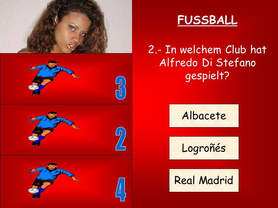 FUSSBALL 1.- Wieviele Spieler gibt es auf dem Platz in einer Fussballmannschaft? 5 7 11