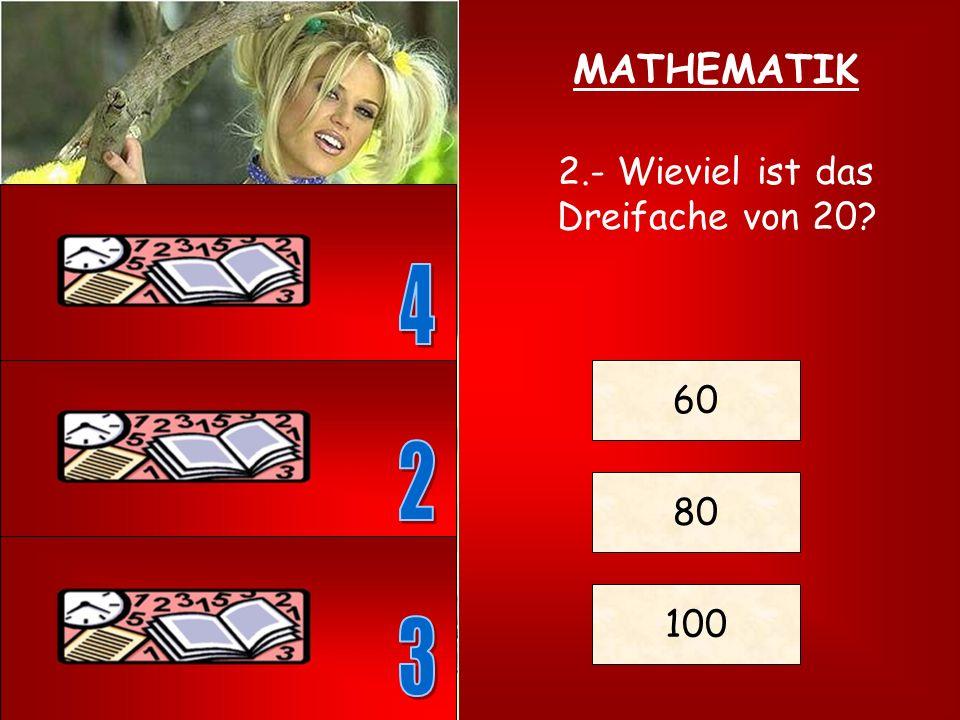 1.- Wieviel gibt: (3+2)x5 = ? ? = 7 ? = 25 ? = 30