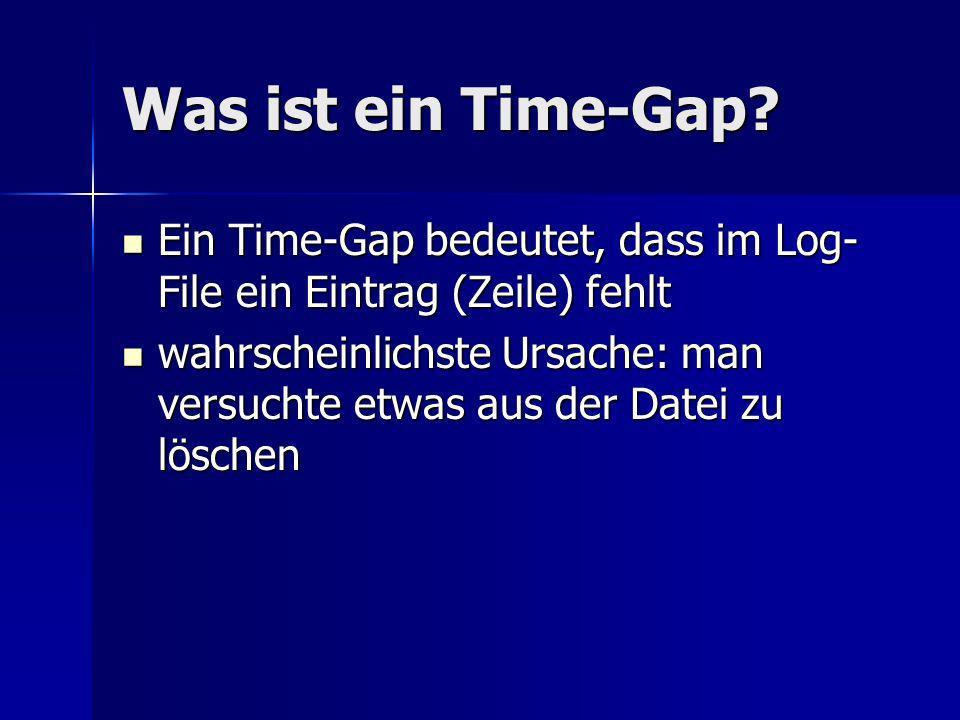 Was ist ein Time-Gap.