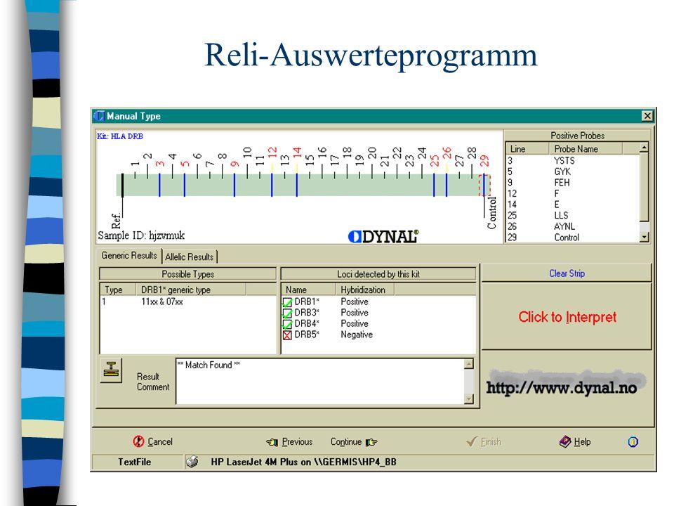 Reli-Auswerteprogramm