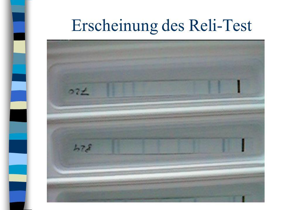Erscheinung des Reli-Test