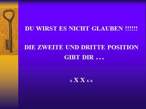DU WIRST ES NICHT GLAUBEN !!!!!! DIE ZWEITE UND DRITTE POSITION GIBT DIR … x X X x x