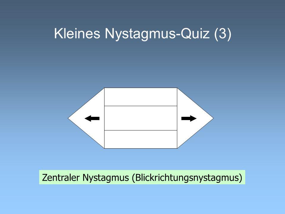 Kleines Nystagmus-Quiz (3) Zentraler Nystagmus (Blickrichtungsnystagmus)