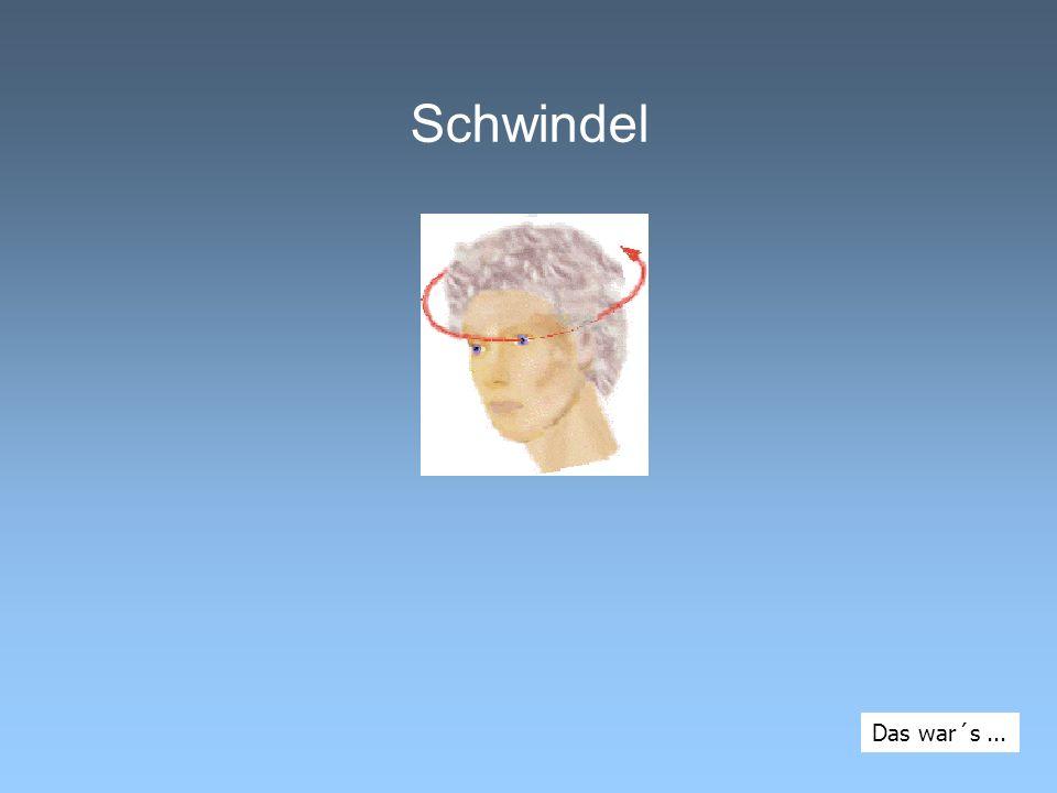 Schwindel Das war´s...