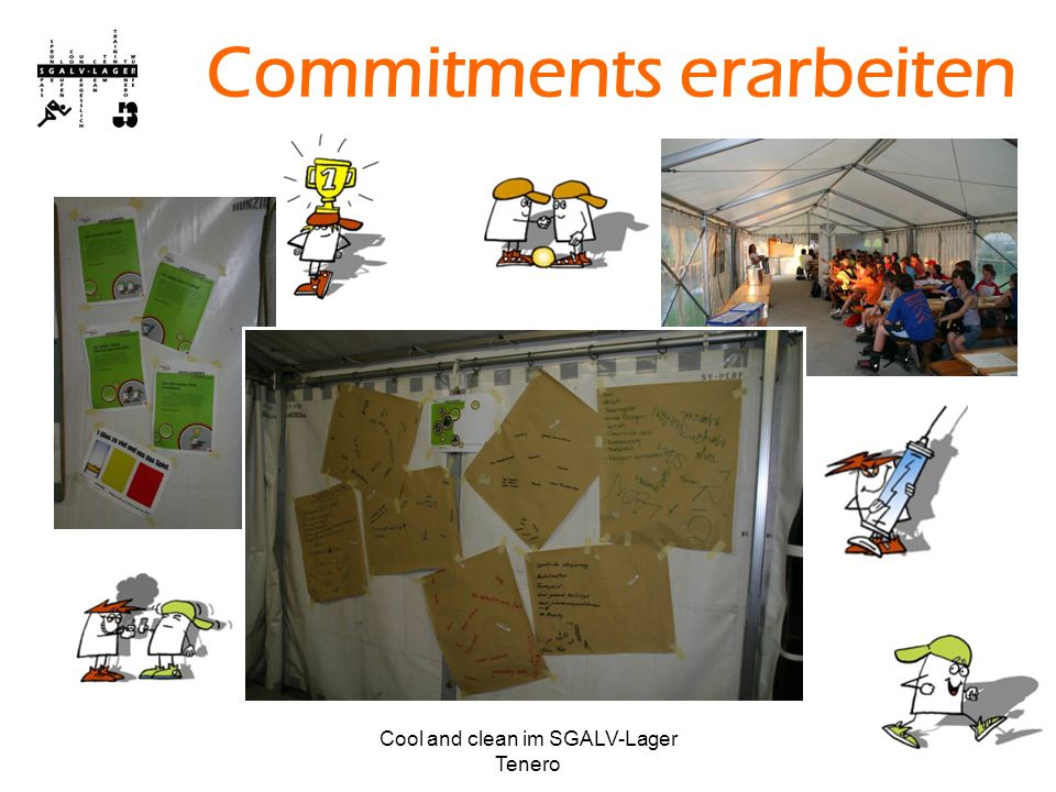 Cool and clean im SGALV-Lager Tenero Commitments erarbeiten