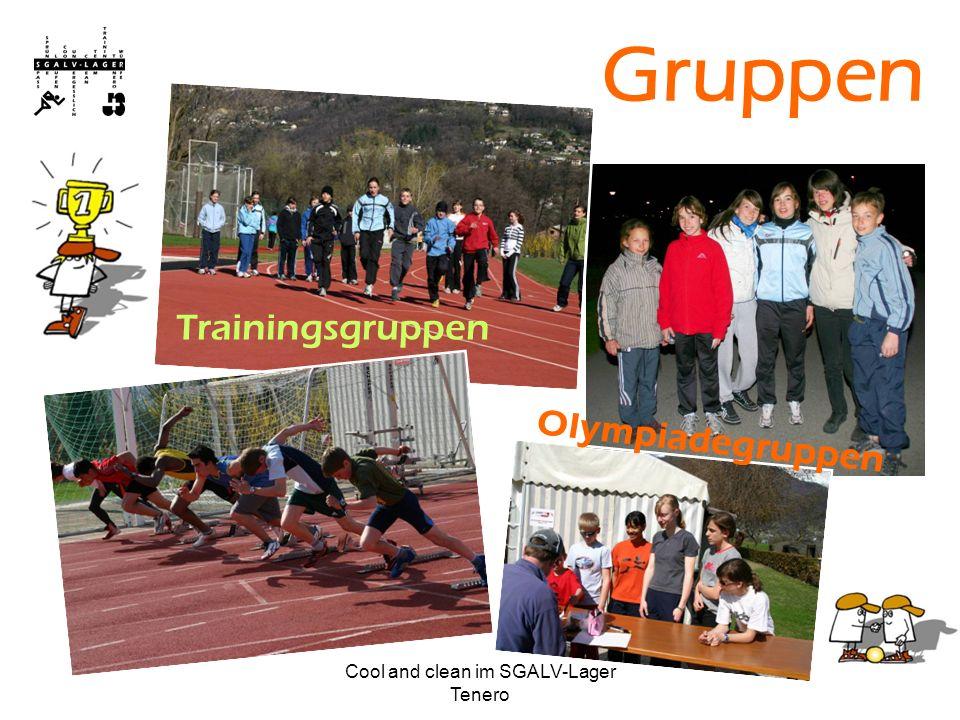 Cool and clean im SGALV-Lager Tenero Gruppen Trainingsgruppen Olympiadegruppen
