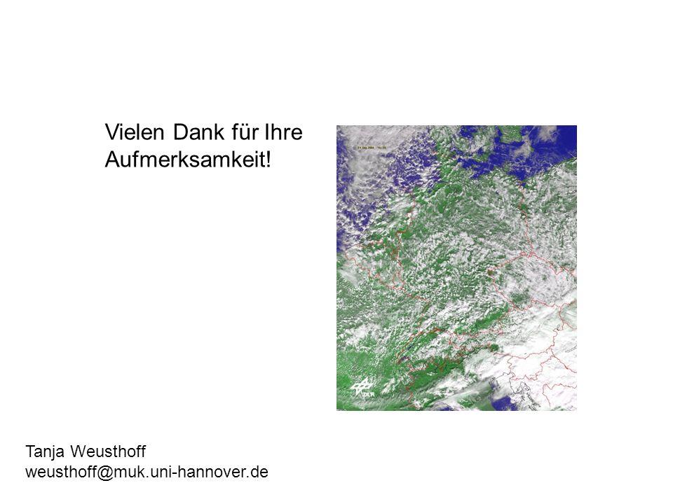 Vielen Dank für Ihre Aufmerksamkeit! Tanja Weusthoff weusthoff@muk.uni-hannover.de