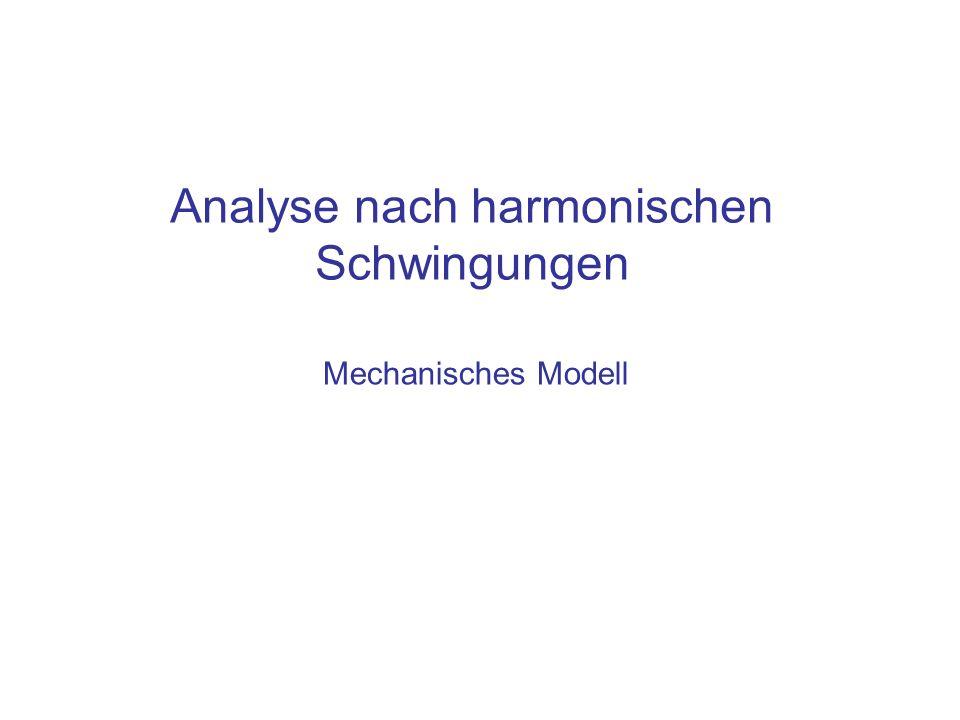 Analyse nach harmonischen Schwingungen Mechanisches Modell