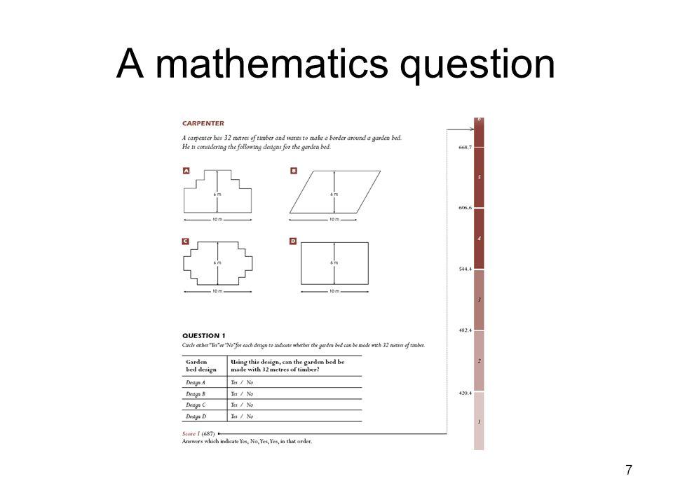 7 A mathematics question