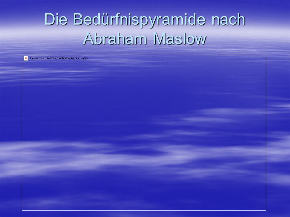 Die Bedürfnispyramide nach Abraham Maslow