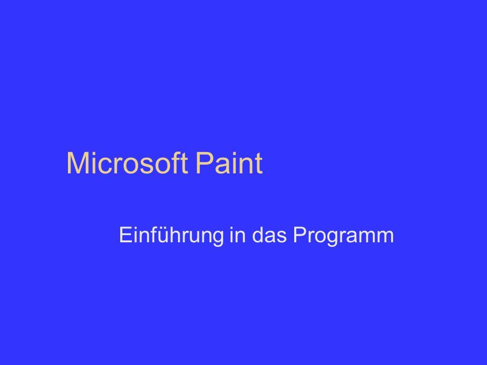Microsoft Paint Einführung in das Programm
