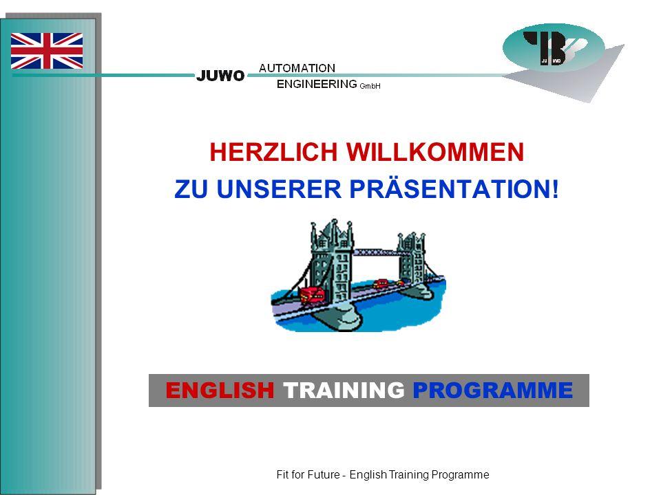 Fit for Future - English Training Programme AUTOMATION + ENGINEERING Planung, Spezifikation & Projektmanagement SW-Engineering + HW-Planung Sicherheitstechnik Inbetriebnahme Dokumentationen Turn-Key Solutions ABOUT US 2