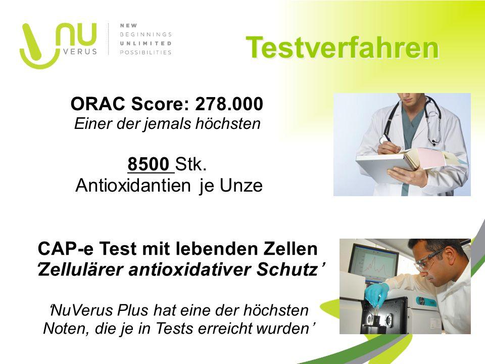 ORAC Score: 278.000 Einer der jemals höchsten 8500 Stk.