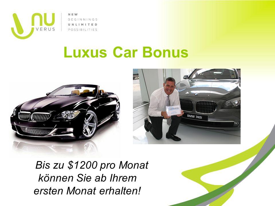 Bis zu $1200 pro Monat können Sie ab Ihrem ersten Monat erhalten! Luxus Car Bonus