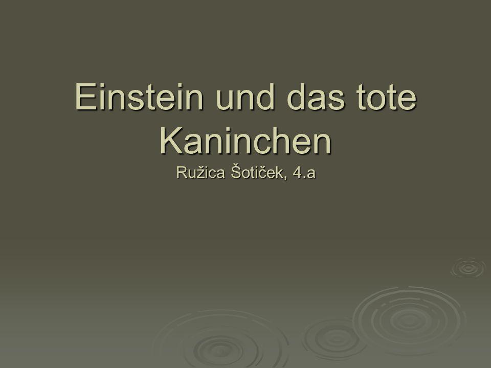 Einstein und das tote Kaninchen Ružica Šotiček, 4.a