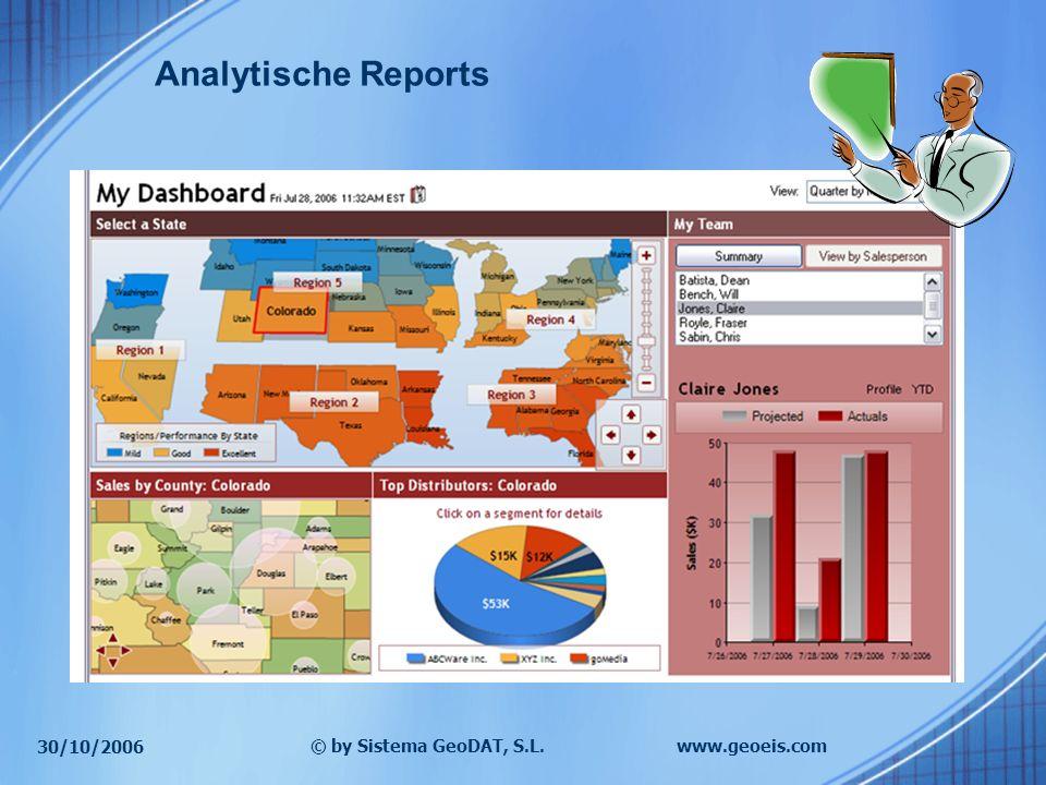 30/10/2006 © by Sistema GeoDAT, S.L.www.geoeis.com Analytische Reports