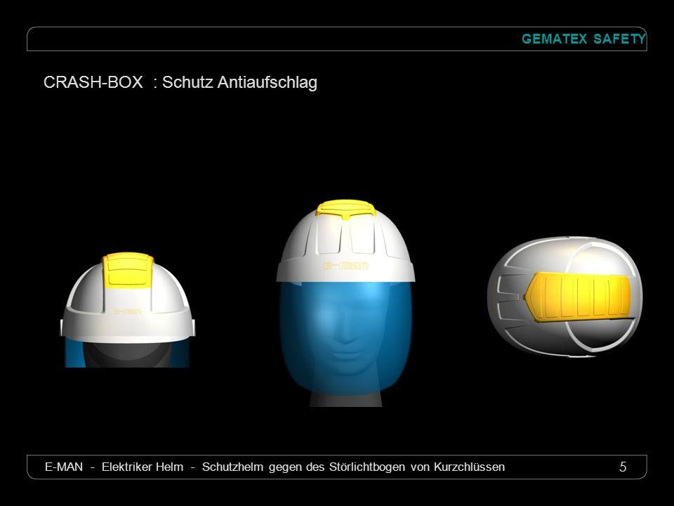 6 GEMATEX SAFETY E-MAN - Elektriker Helm - Schutzhelm gegen des Störlichtbogen von Kurzchlüssen CRASH-BOX : Schutz Antiaufschlag