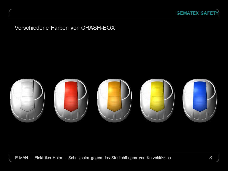 9 GEMATEX SAFETY E-MAN - Elektriker Helm - Schutzhelm gegen des Störlichtbogen von Kurzchlüssen CRASH-BOX Zerlegbar für den Ersatz des Schirmes S