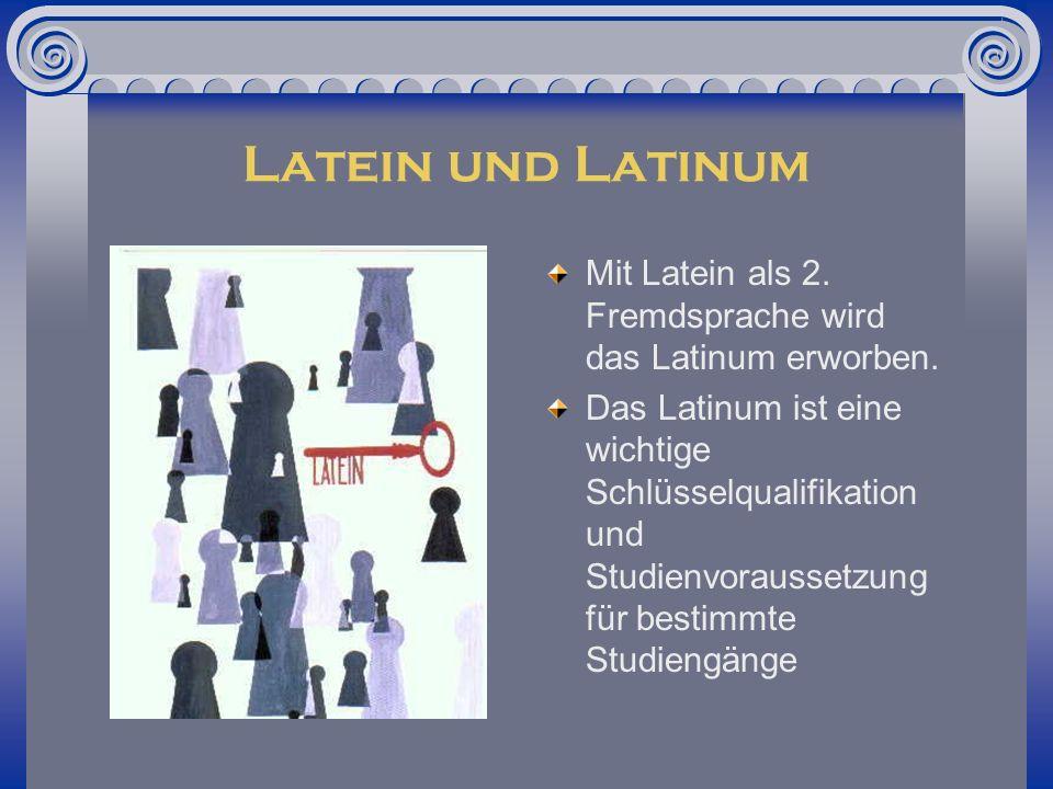 Latinum Neuerdings Unterscheidung in - Lateinkenntnisse:(3 Jahre Latein – 8.Kl ) - Gesicherte Lateinkenntnisse / Kleines Latinum (4 Jahre Latein – 9.Kl.) - Latinum (5 Jahre Latein -10.