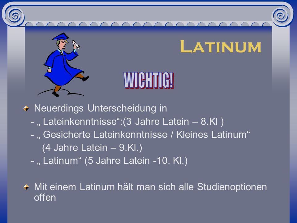 Was bietet der Lateinunterricht?