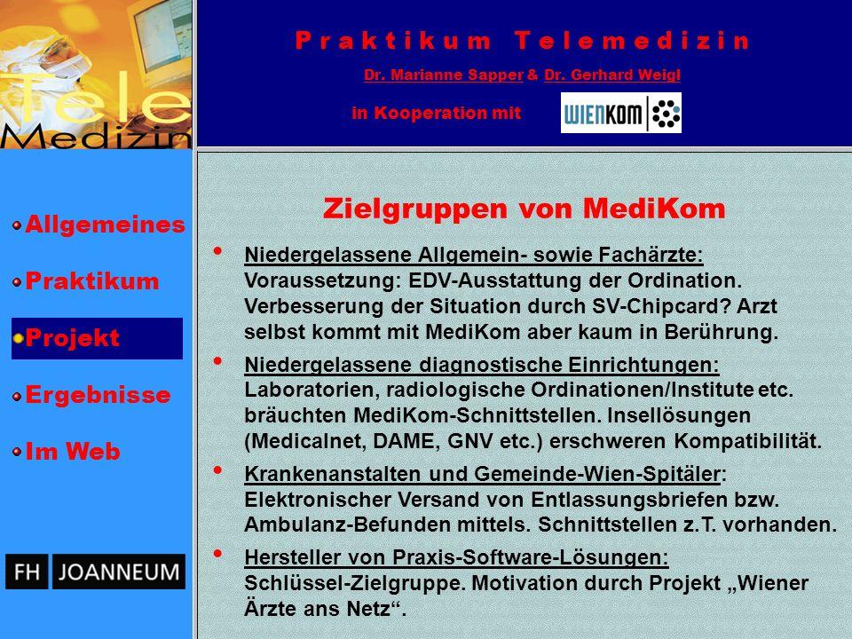 Allgemeines Praktikum Projekt Ergebnisse Im Web P r a k t i k u m T e l e m e d i z i n Dr.