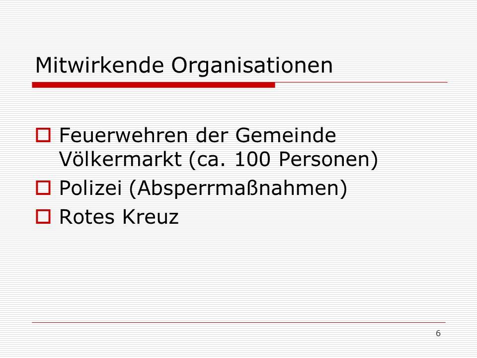 6 Mitwirkende Organisationen Feuerwehren der Gemeinde Völkermarkt (ca.