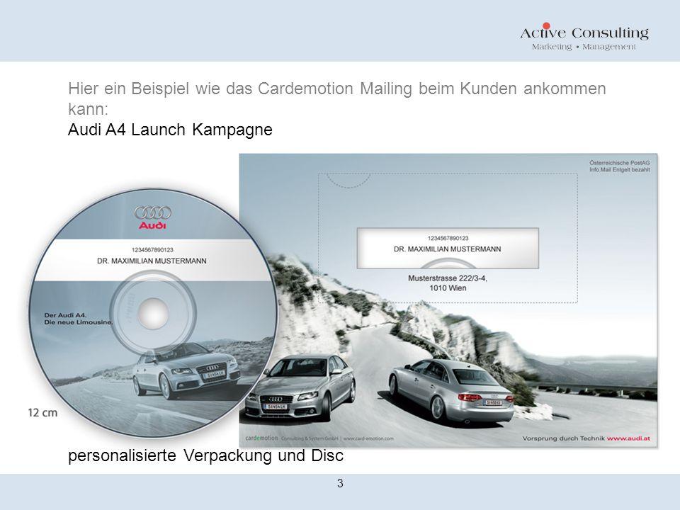 Die Cardemotion Disc ist eine neue Technologie von CDs und DVDs.