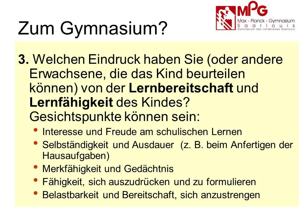 Zum Gymnasium. 3.
