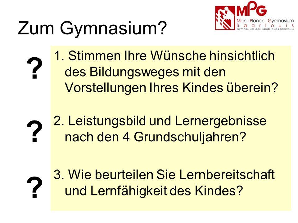 Zum Gymnasium. 1.