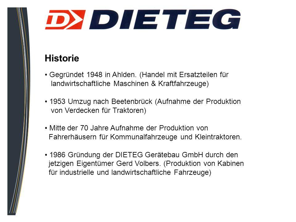 Historie Gegründet 1948 in Ahlden. (Handel mit Ersatzteilen für landwirtschaftliche Maschinen & Kraftfahrzeuge) 1953 Umzug nach Beetenbrück (Aufnahme