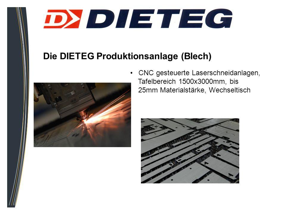 Die DIETEG Produktionsanlage (Blech) CNC gesteuerte Laserschneidanlagen, Tafelbereich 1500x3000mm, bis 25mm Materialstärke, Wechseltisch