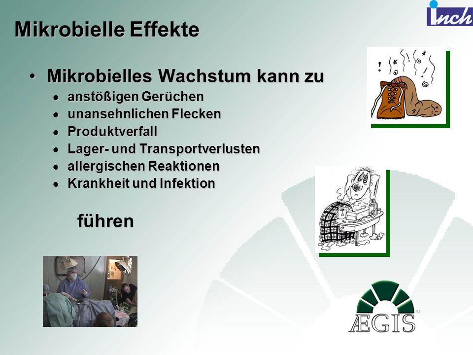 Mikrobielle Effekte Mikrobielles Wachstum kann zuMikrobielles Wachstum kann zu anstößigen Gerüchen anstößigen Gerüchen unansehnlichen Flecken unansehn
