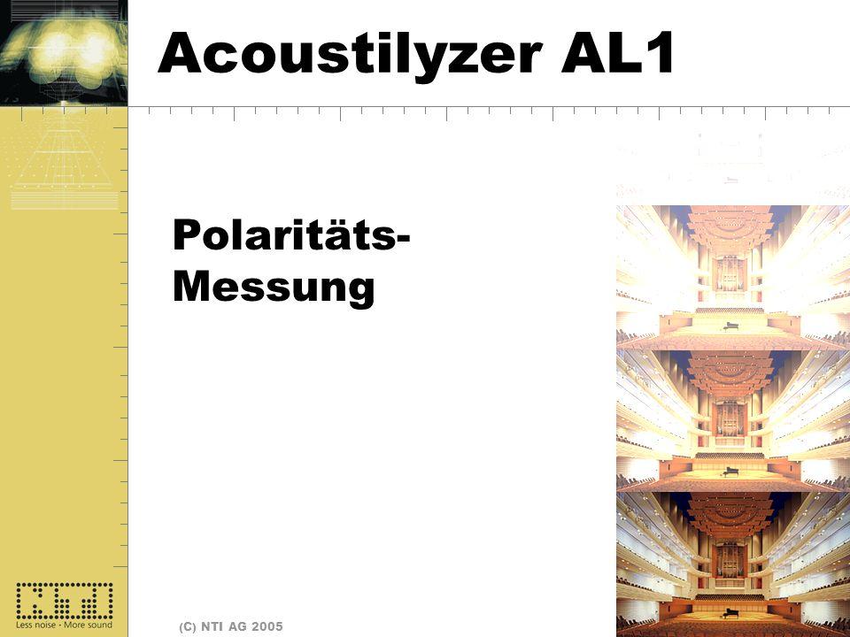Seite 26 (C) NTI AG 2005 Polarität Polaritäts- Messung Acoustilyzer AL1