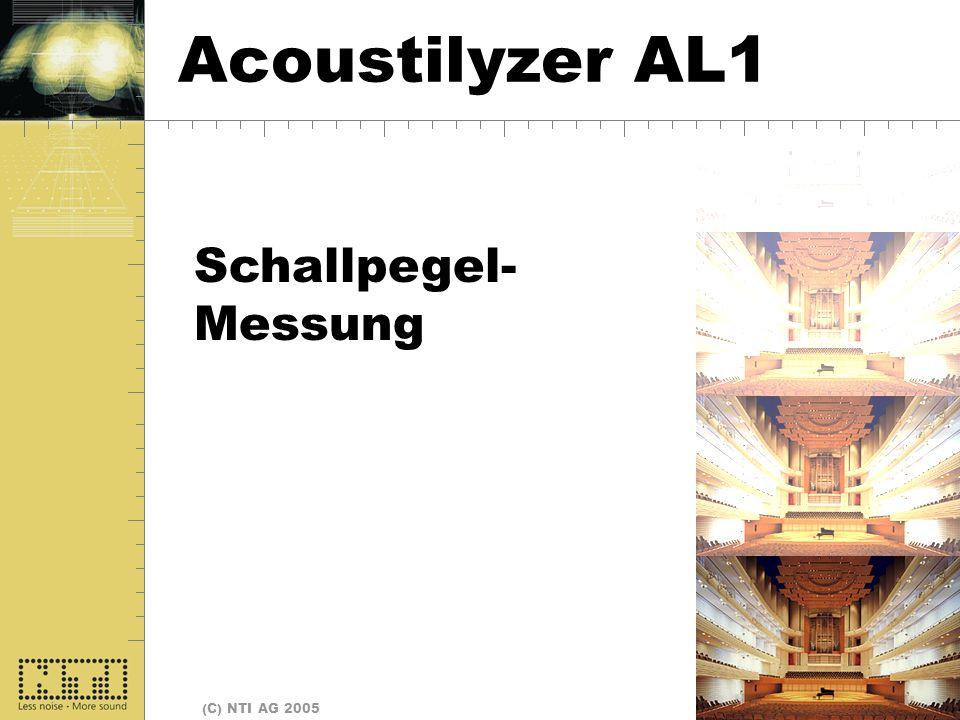 Seite 4 (C) NTI AG 2005 Start Schallpegel- Messung Acoustilyzer AL1