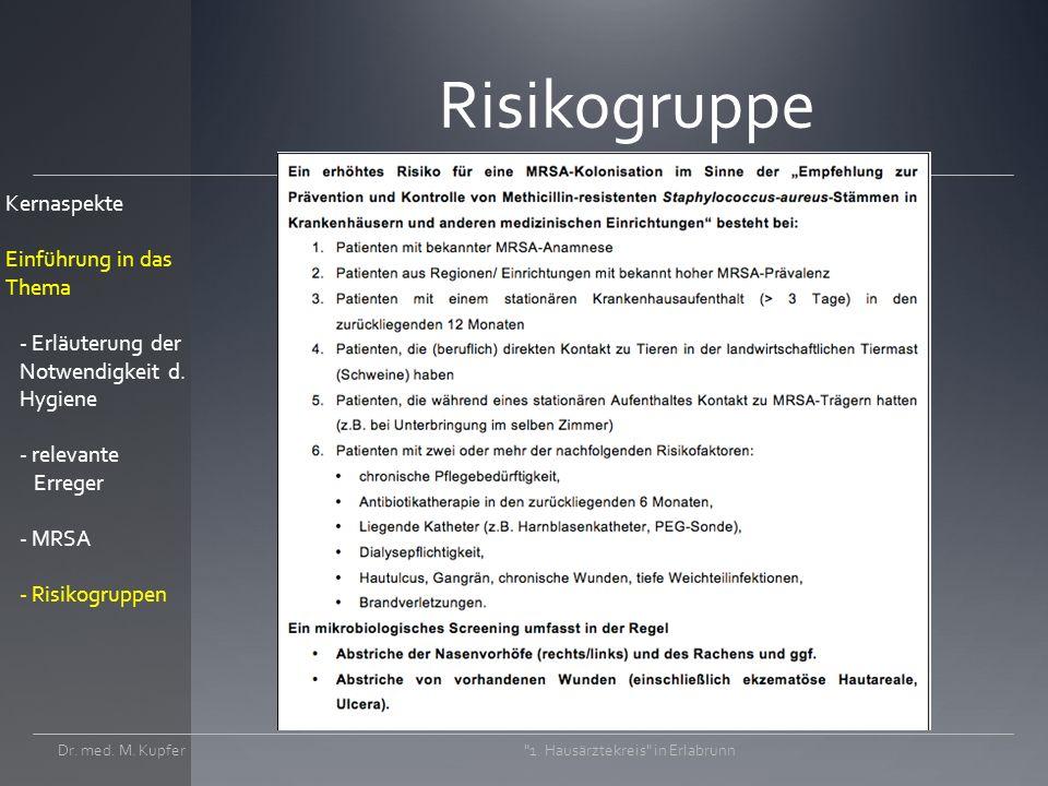 Risikogruppe Dr.med. M. Kupfer 1.