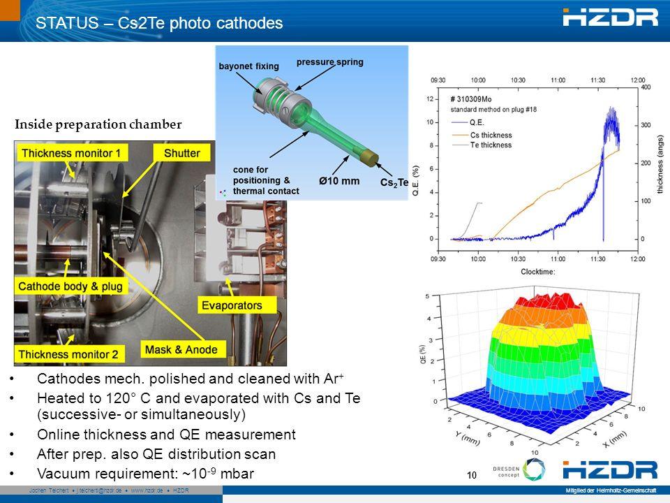 Seite 10 Mitglied der Helmholtz-Gemeinschaft Jochen Teichert j.teichertl@hzdr.de www.hzdr.de HZDR 10 Inside preparation chamber Cathodes mech. polishe