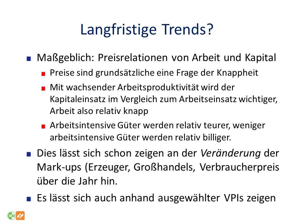 Langfristige Trends.