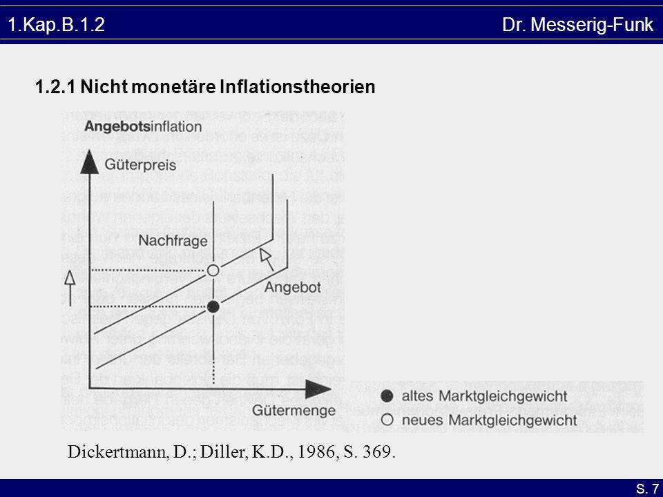 S. 7 1.Kap.B.1.2 Dr. Messerig-Funk 1.2.1 Nicht monetäre Inflationstheorien Dickertmann, D.; Diller, K.D., 1986, S. 369.